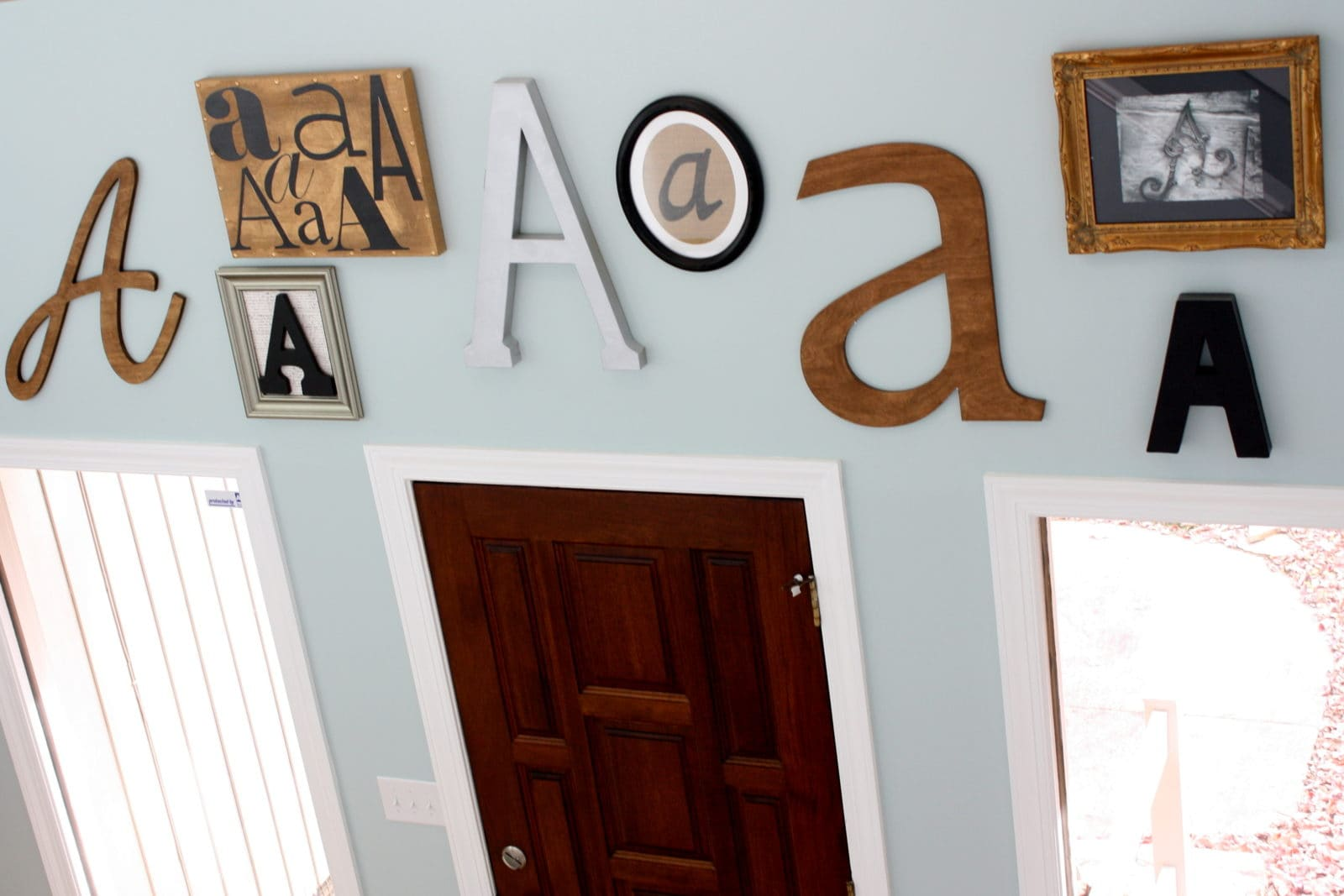 How to Create Your Own Monogram Gallery Wall A step-by-step tutorial