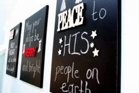 DIY Chalkboard Christmas Canvases in less than 30 minutes and for less than $30