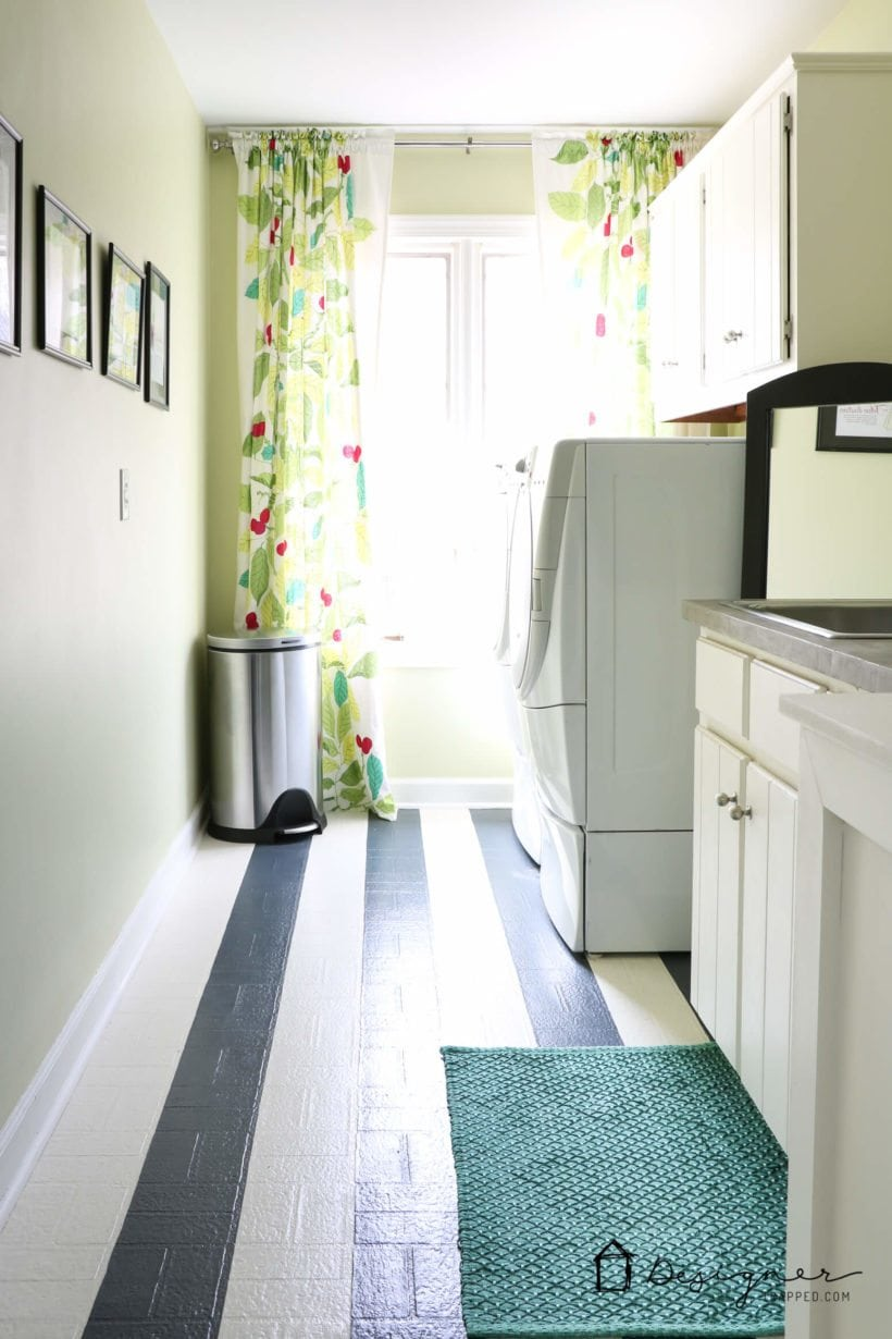 How to Paint Vinyl Floors: Long-Lasting Results | Designer Trapped