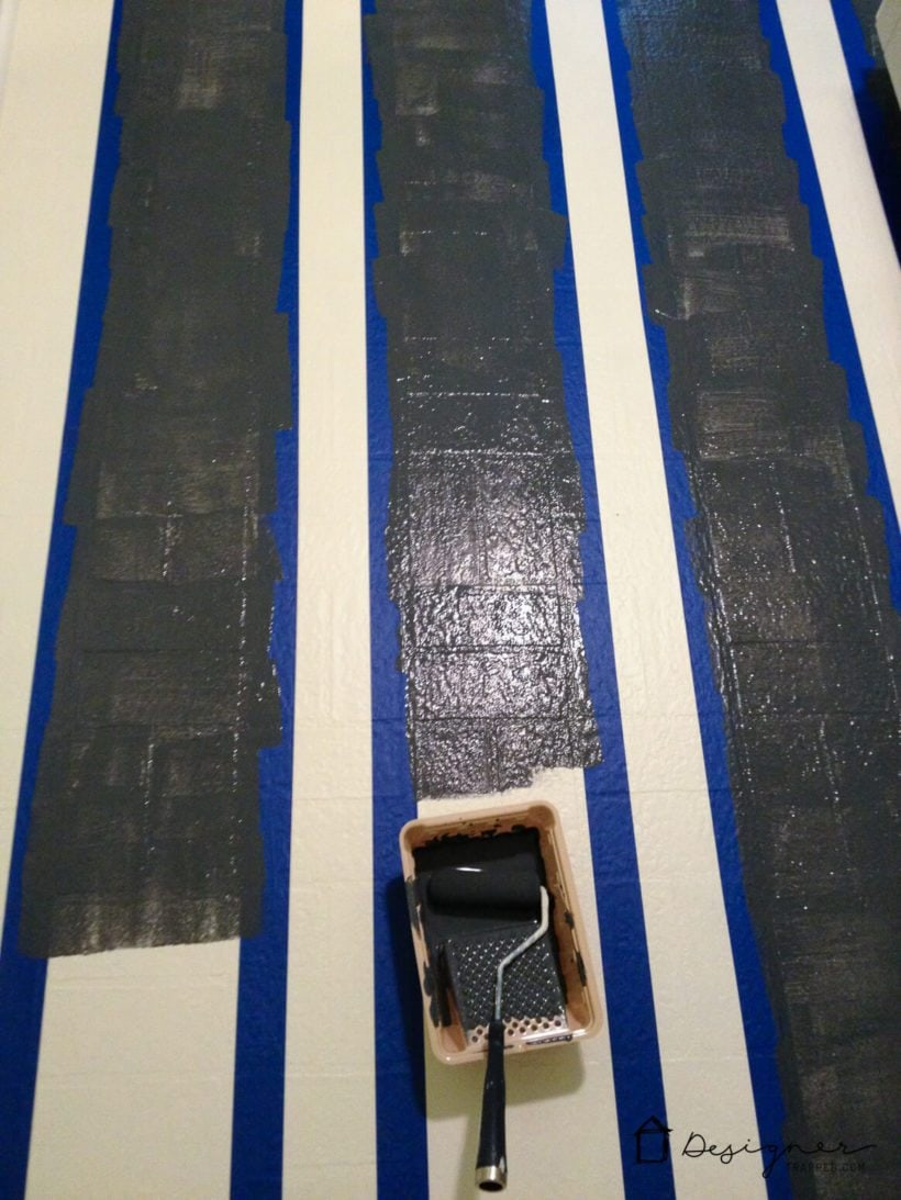 painting stripes on floor
