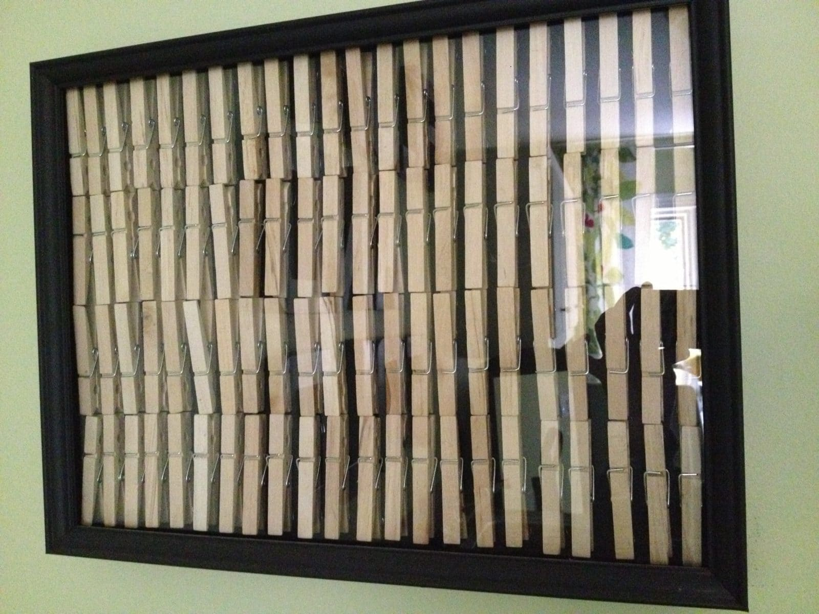 Diy picture frame no sawing or cutting required thrifty easy diy laundry room art tutorial jeuxipadfo Images