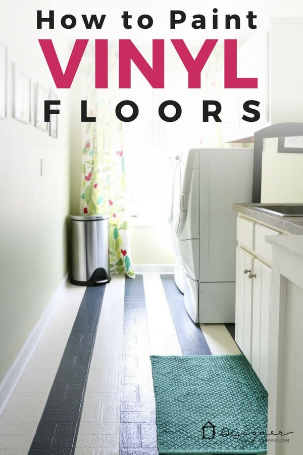 How to Paint Vinyl Floors: Long-Lasting Results | Designer Trapped Happy Home Designer Mints House Html on