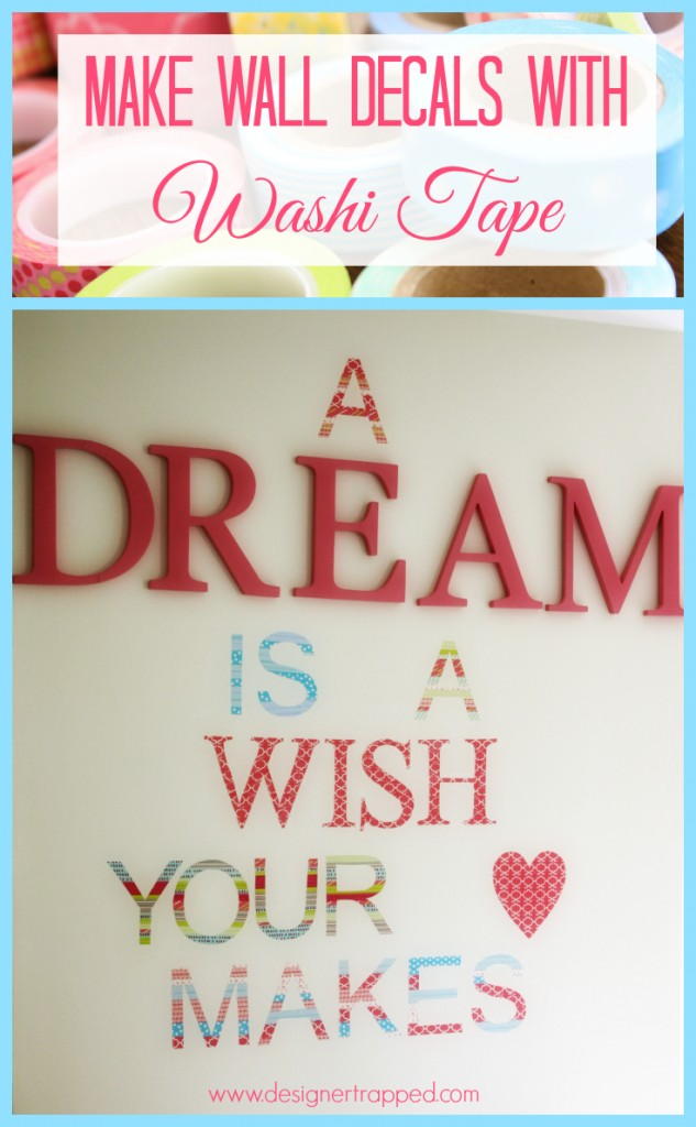 DIY Washi Tape Wall Decals--a full tutorial by Designer Trapped in a Lawyer's Body {www.designertrapped.com}