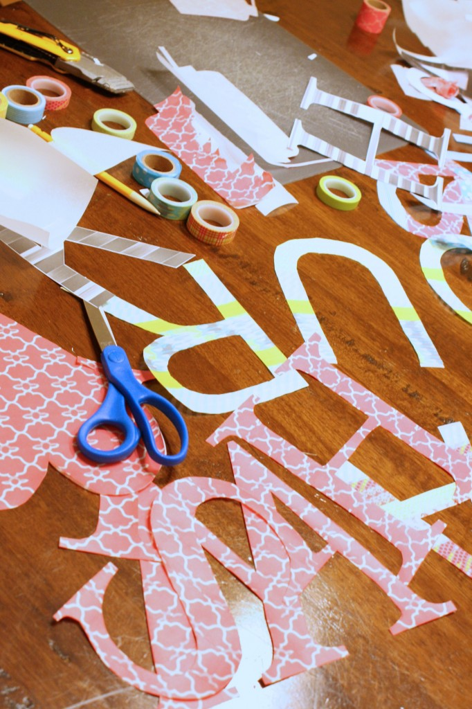 DIY Washi Tape Wall Decals--a detailed tutorial by Designer Trapped in a Lawyer's Body {www.designertrapped.com}