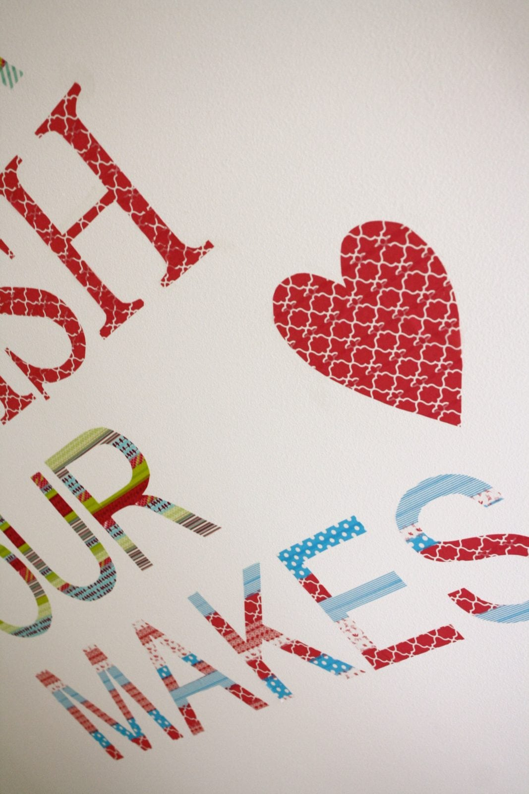 Words To Decorate Your Wall With Diy Washi Tape Wall Decals By Designer Trapped In A Lawyers Body