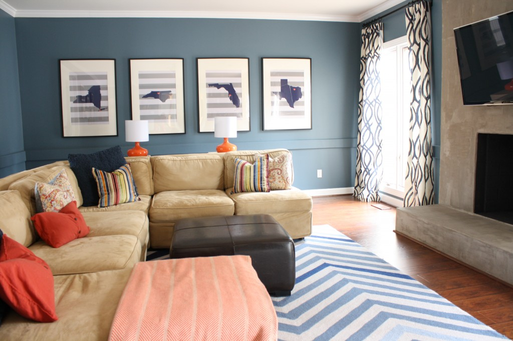 DIY Family Room Transformation by Designer Trapped in a Lawyer's Body {www.designertrapped.com}