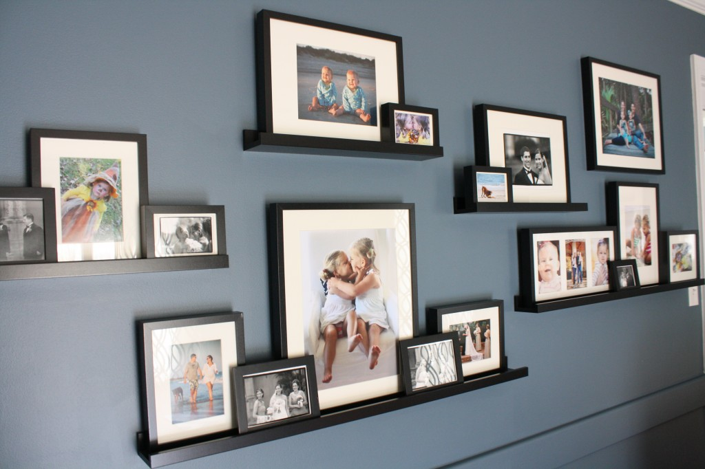Ikea Ribba frames and picture ledges