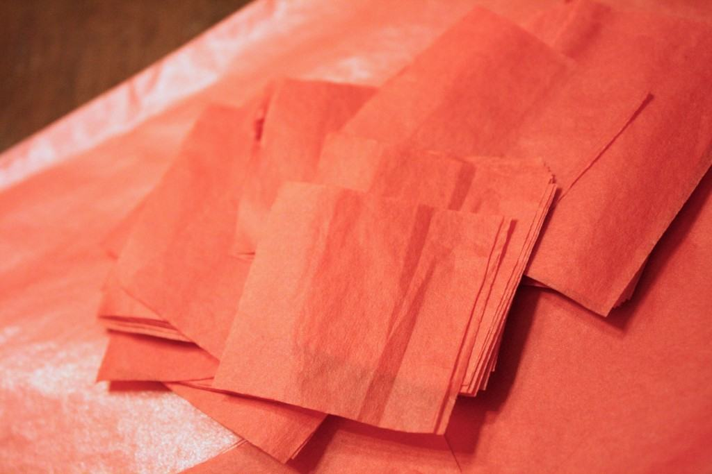 Tissue Paper Valentine's Day Craft by Designer Trapped in a Lawyer's Body {www.designertrapped.com}