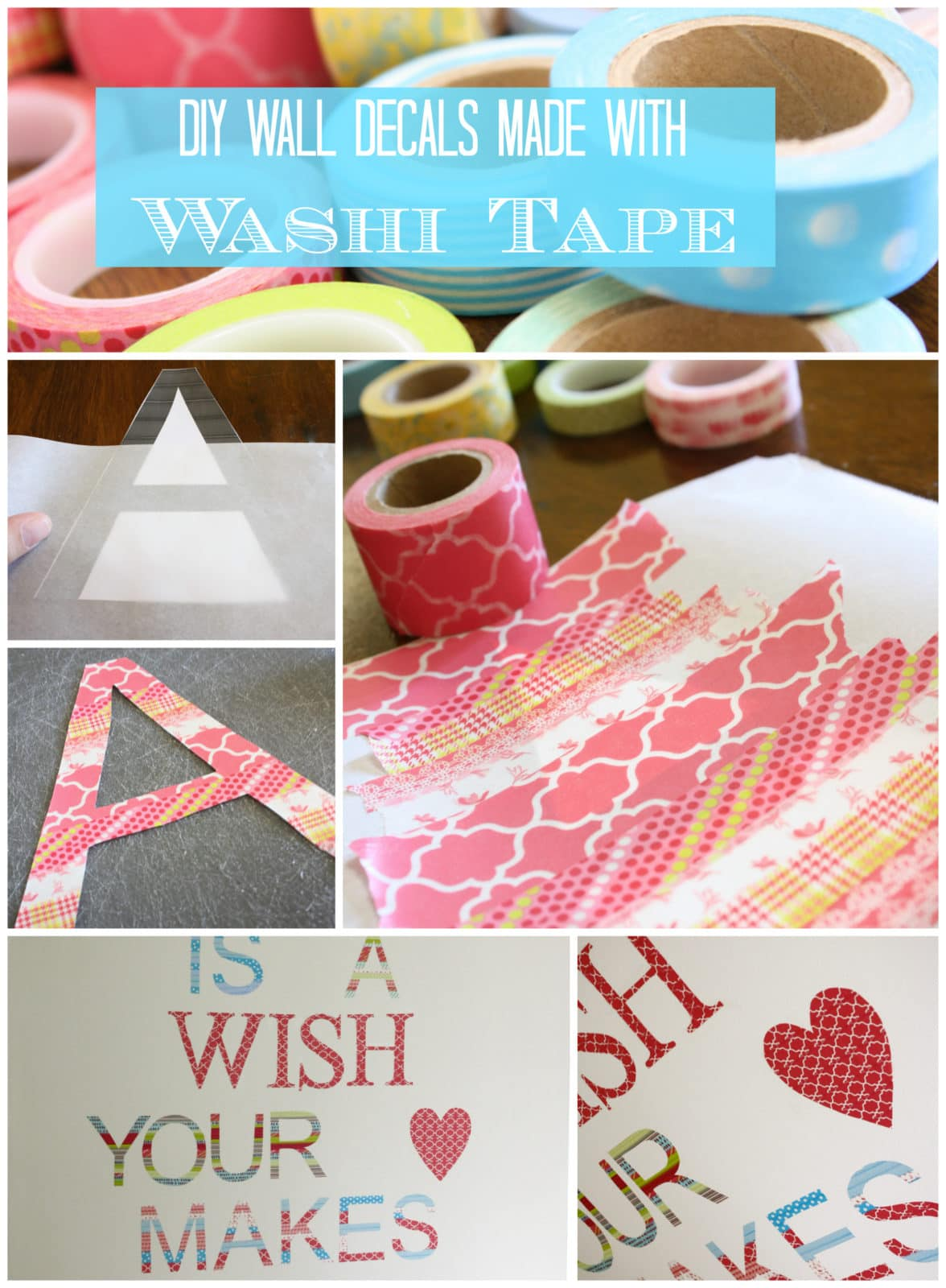 DIY Washi Tape Wall Decals by Designer Trapped in a Lawyer's Body {www.designertrapped.com}