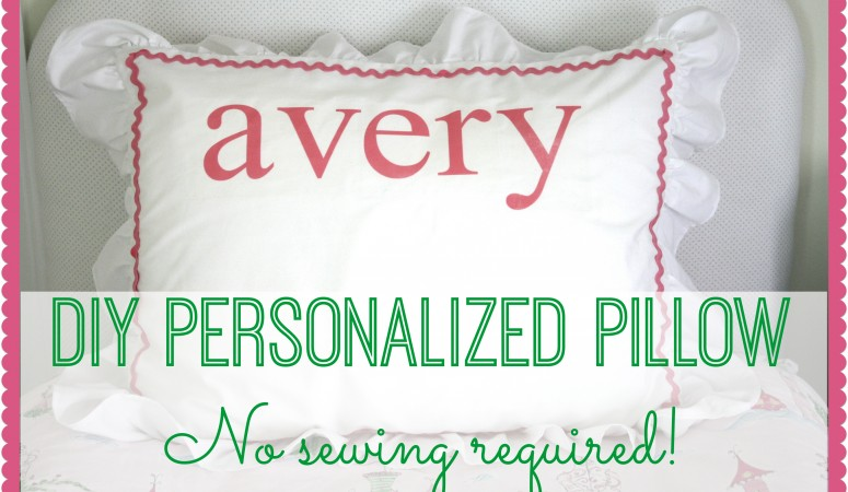 DIY Monogram Pillow Tutorial {no sewing required!}