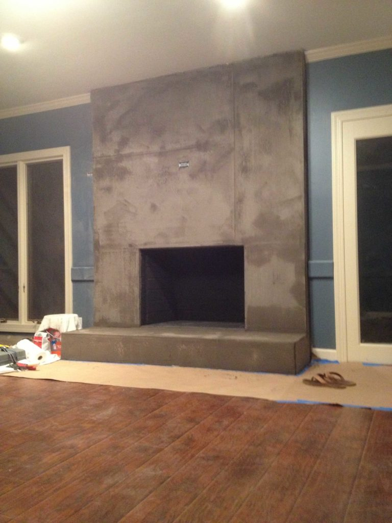Cost of building a fireplace - Diy Concrete Fireplace Tutorial By Designer Trapped In A Lawyer S Body Www Designertrapped