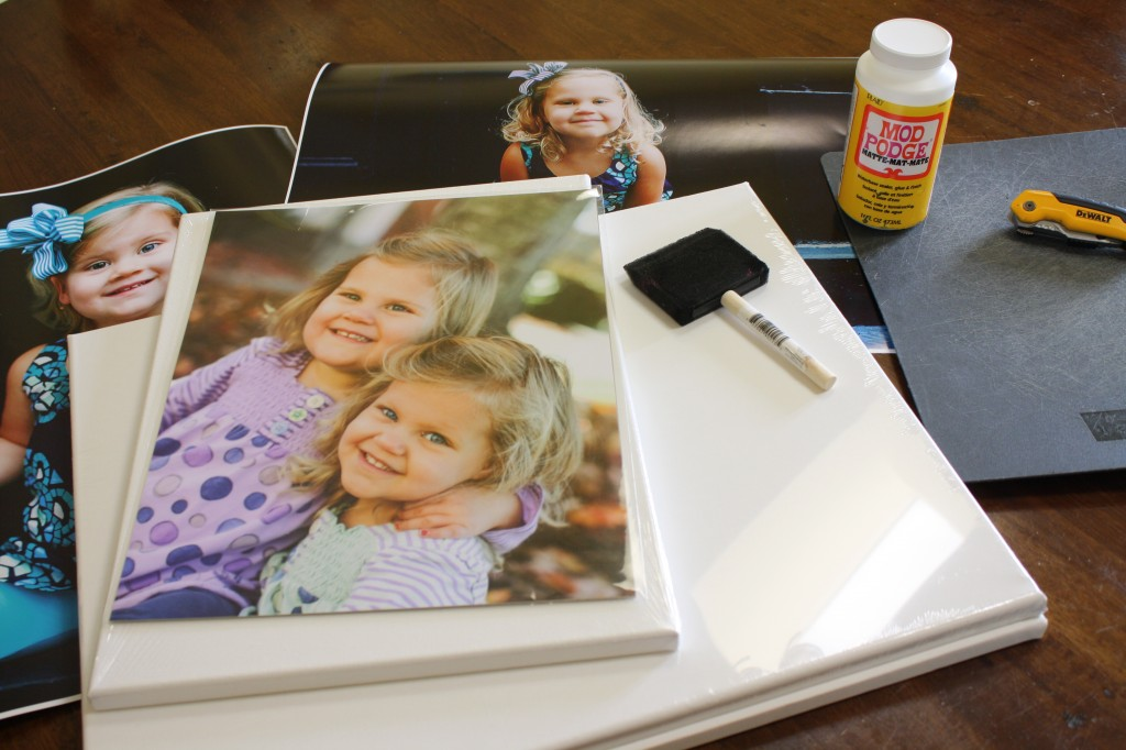 DIY Photo Canvas Tutorial by Designer Trapped in a Lawyer's Body {www.designertrapped.com}
