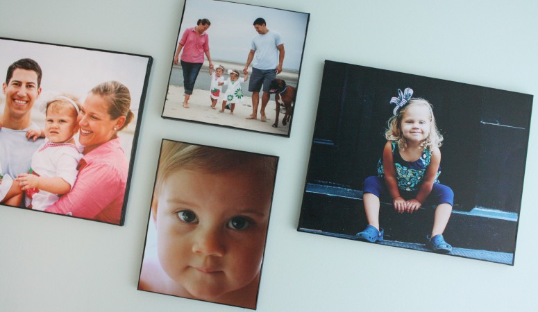 I love displaying family photos throughout my house, but basic frames can get boring. LOVE these creative photo display ideas! I never dreamed I could make my own canvases with that real canvas texture. Can't wait to try that DIY photo canvas idea and a few of the others!