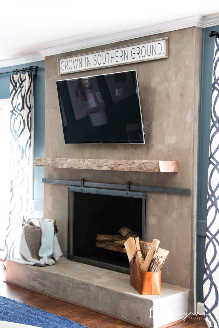 diy concrete fireplace for less than 100 designer trapped in a
