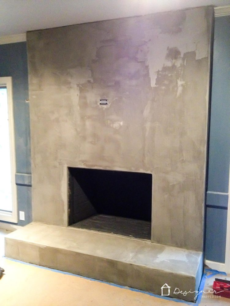 Diy concrete fireplace for less than 100 designertrapped you can create a contemporary fireplace with concrete for less than 100 this full diy solutioingenieria Image collections