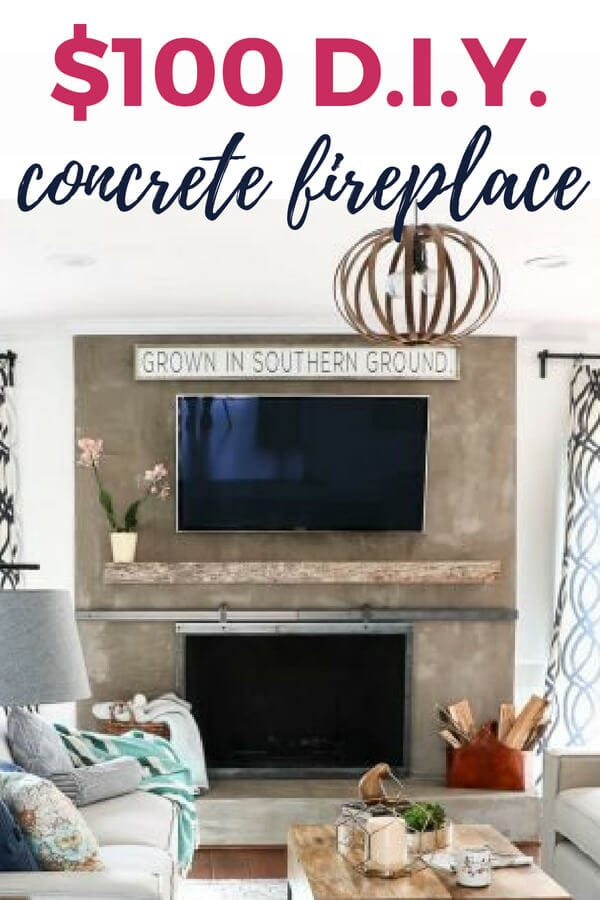 Diy concrete fireplace for less than 100 designertrapped concrete fireplace solutioingenieria Gallery