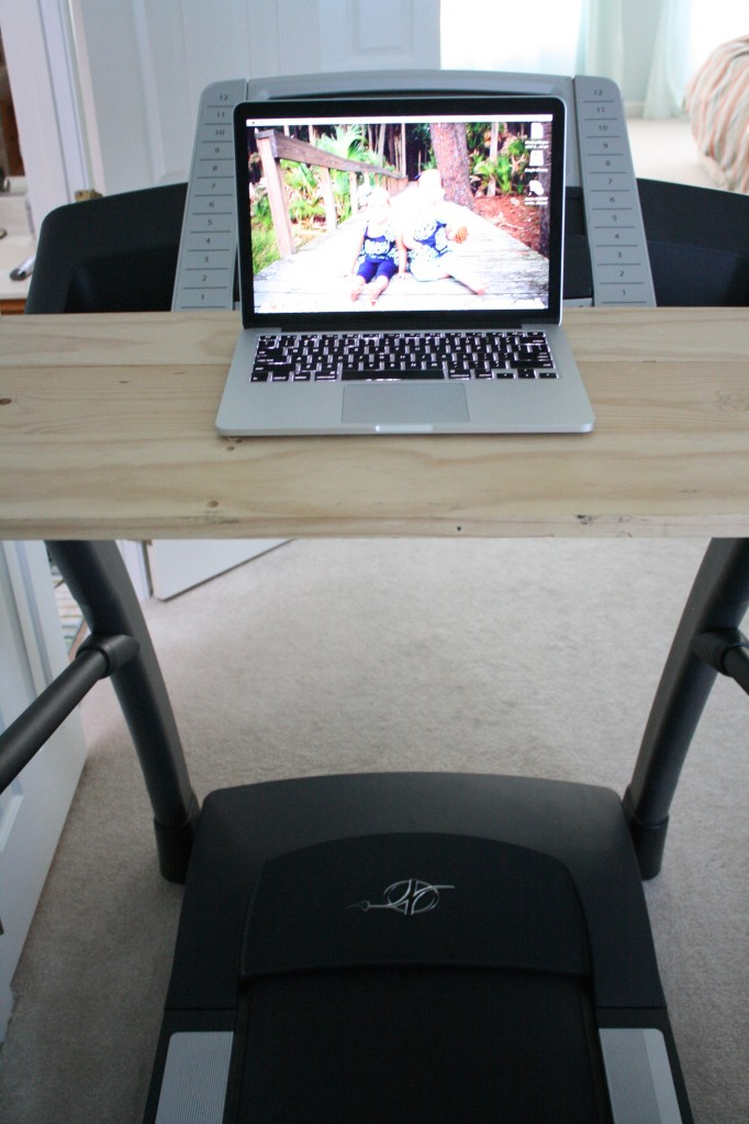 DIY Treadmill Desk- Full Tutorial by Designer Trapped in a Lawyer's Body {www.designertrapped.com}