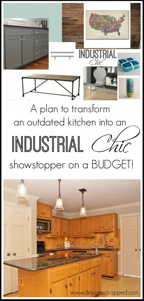 et Kitchen Makeover Plans by Designer Trapped in a Lawyer's Body {www.designertrapped.com}