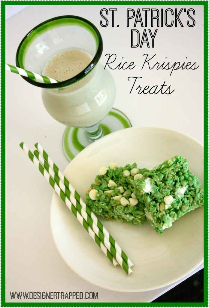 St. Patrick's Day Rice Krispies Treats by Designer Trapped in a Lawyer's Body {www.designertrapped.com}