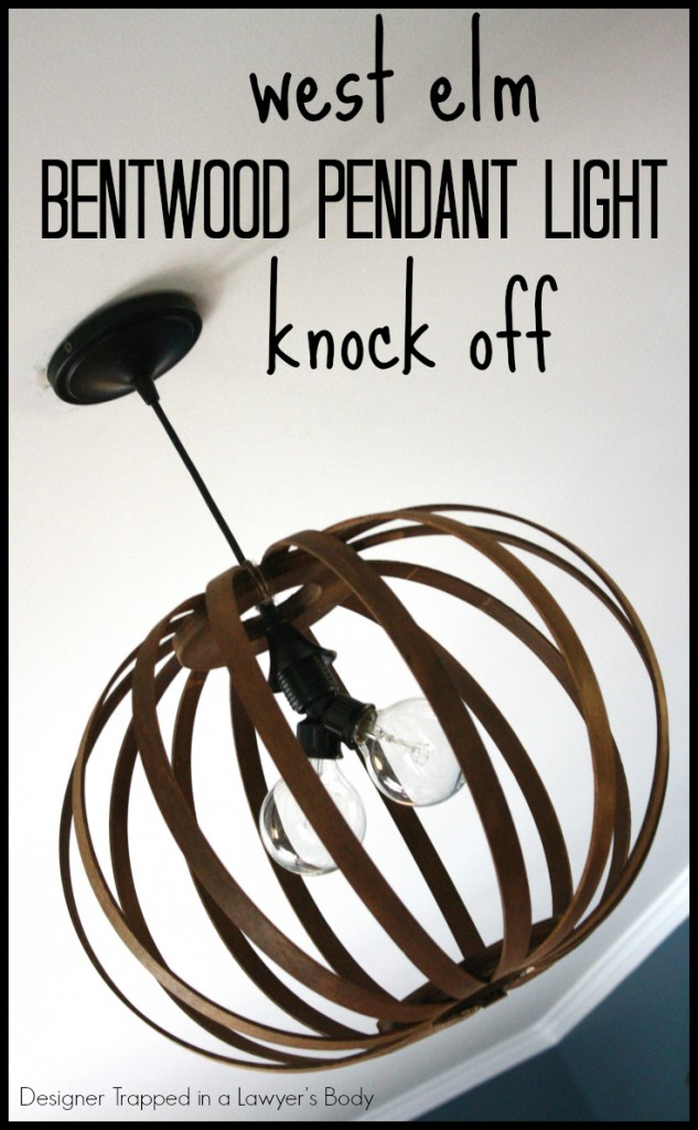 West Elm Bentwood Pendant Knock Off by Designer Trapped in a Lawyer's Body for Tiny Sidekick.