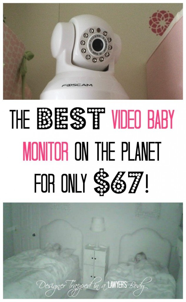 MUST PIN! The BEST and CHEAPEST video baby monitor! Come see all the details at Designer Trapped in a Lawyer's Body {www.designertrapped.com}