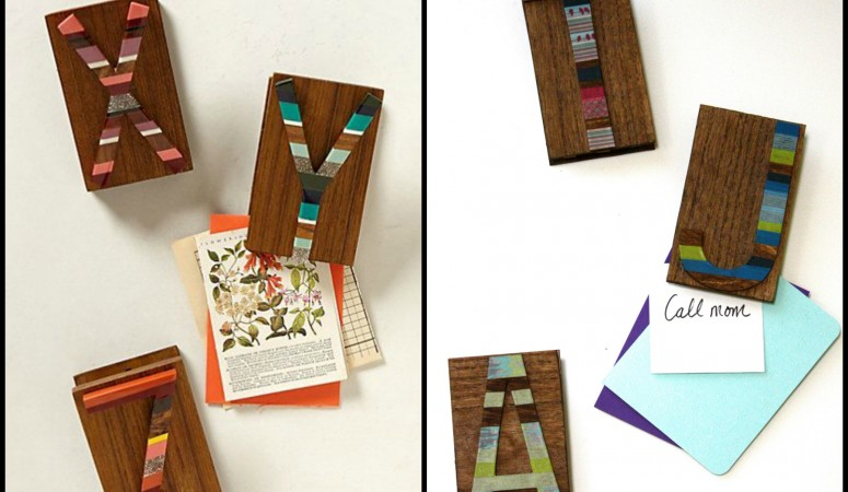 Candied Letter Desk Clips ~ Anthropologie Knock Off No. 3