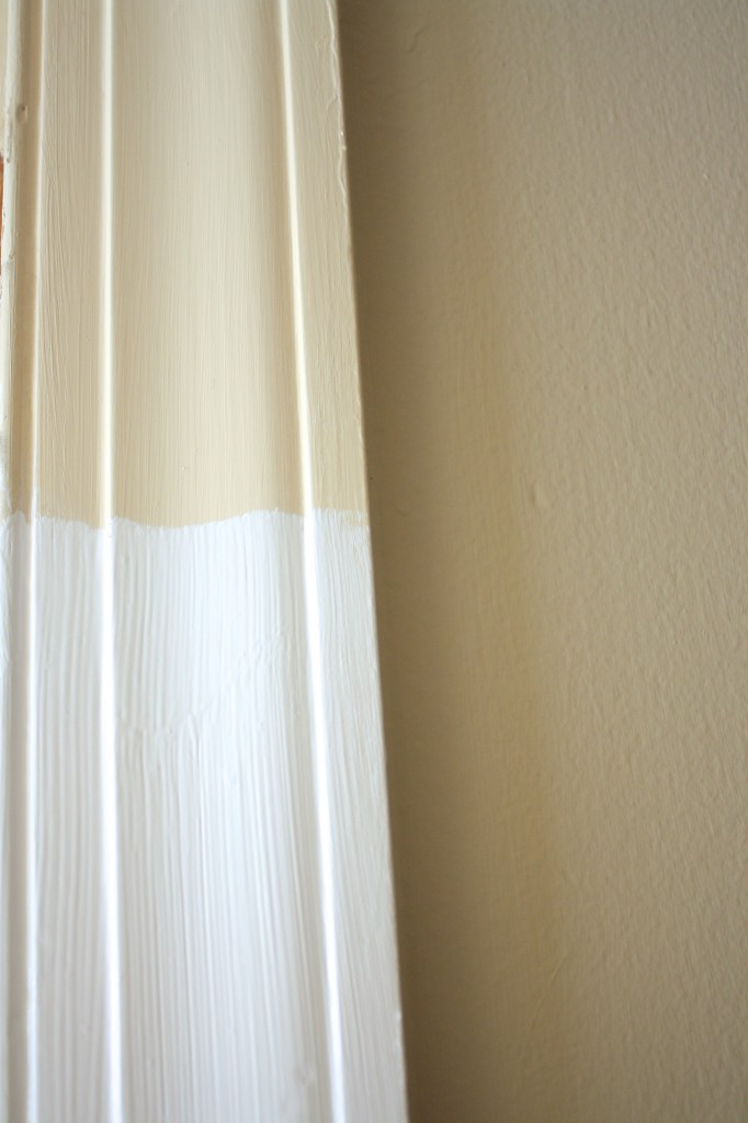 Painted trim can make a HUGE impact!  Full details by Designer Trapped in a Lawyer's Body {www.designertrapped.com}