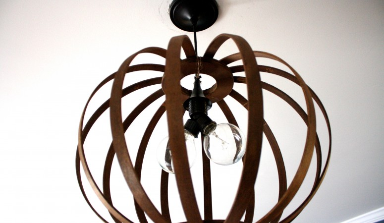 West Elm Knock Off ~ DIY Bentwood Pendant Tutorial