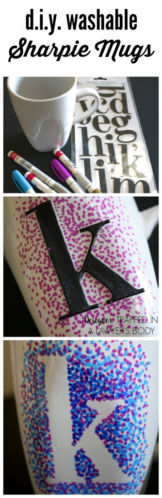 dotted sharpie mug