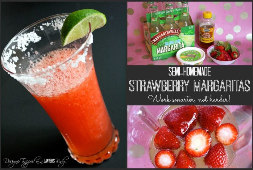 Semi-homemade Strawberry Margaritas ~ Drinks with the Girls Spring Edition