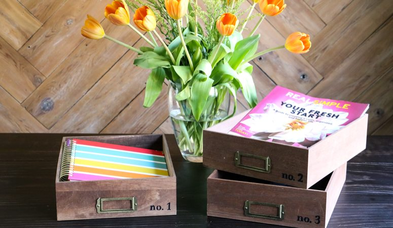 DIY Desk Organizer Trays