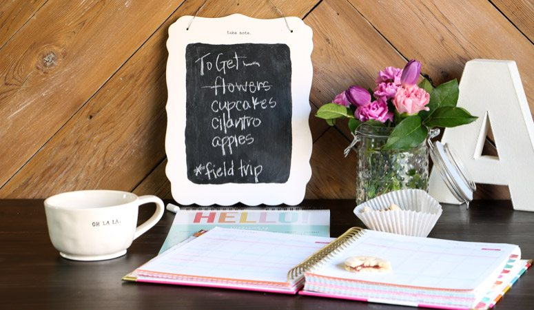 "DIY Small Chalkboard – ""Take Note"""