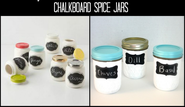 Chalkboard Spice Jars ~ Anthropologie Knock Off Week No. 5