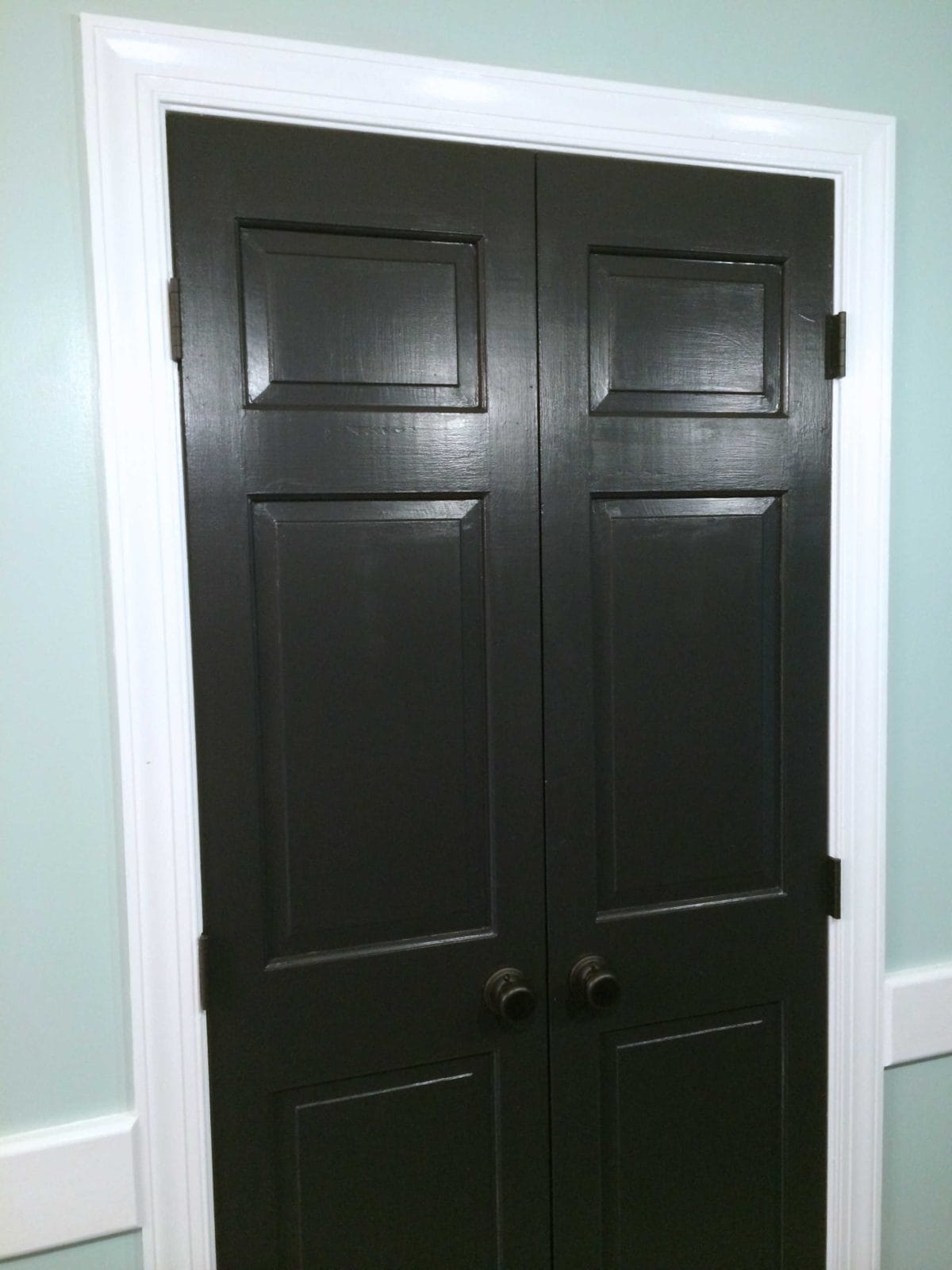 Black doors and white trim easy project big impact designer trapped - Sophisticated black interior doors ...