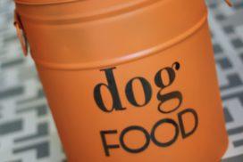 DIY Dog Food Storage Bin {from an old popcorn tin!}