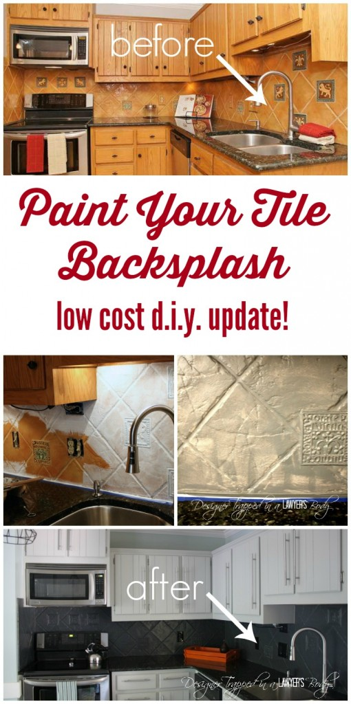 How To Paint A Tile Backsplash: My Budget Solution! | Designer Trapped