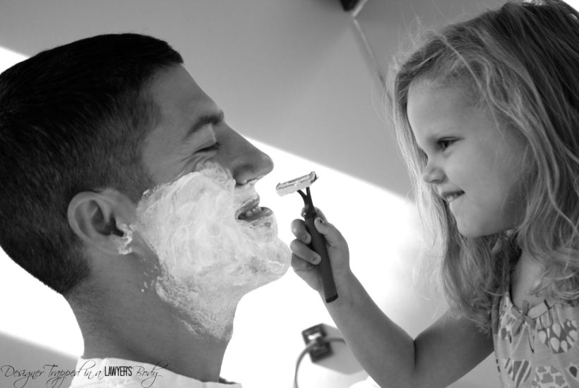 Sweet Daddy Daughter Shaving Photos for Father's Day!
