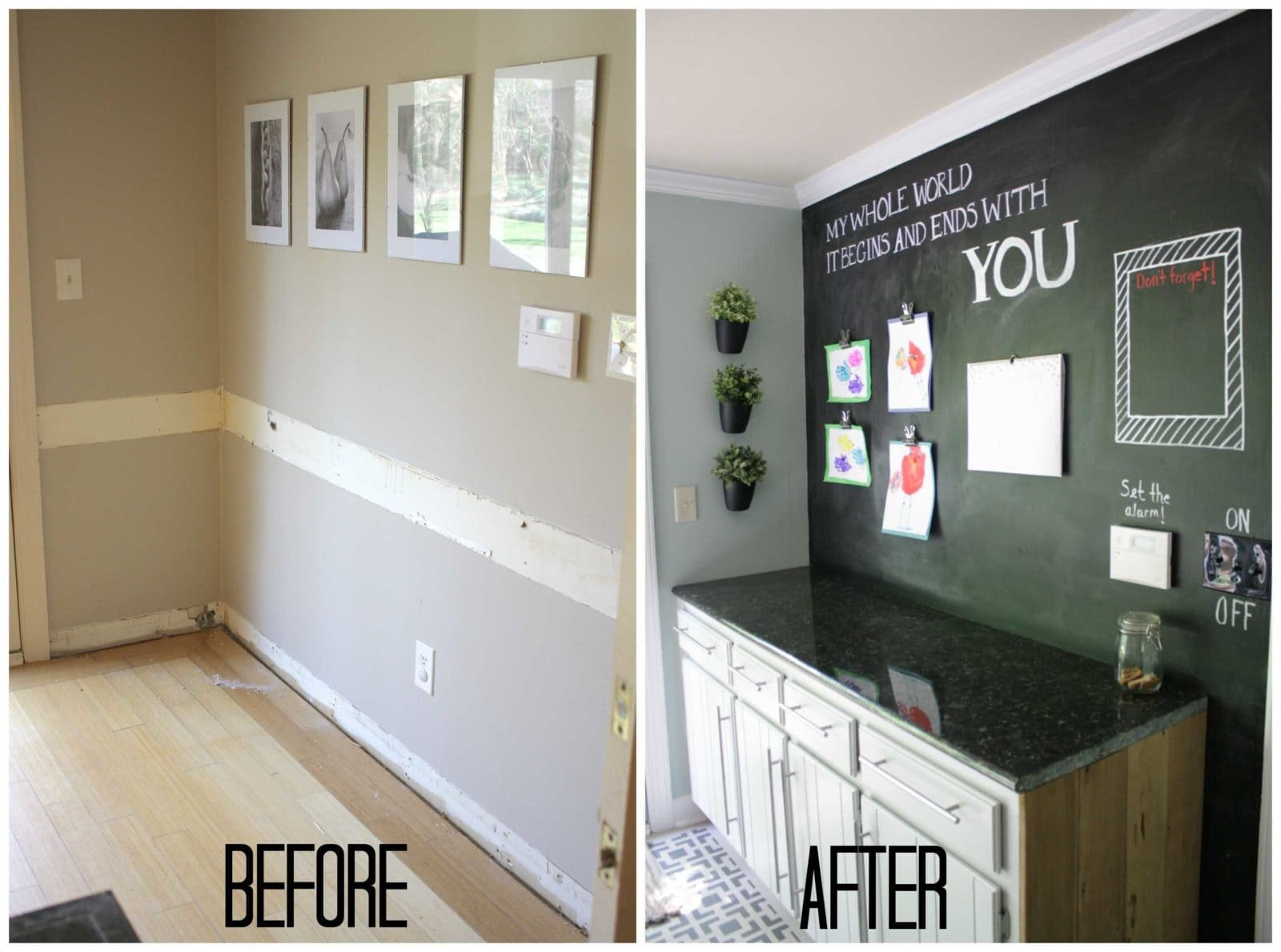 Our budget kitchen remodel reveal part 1 for Cheap kitchen makeover ideas uk