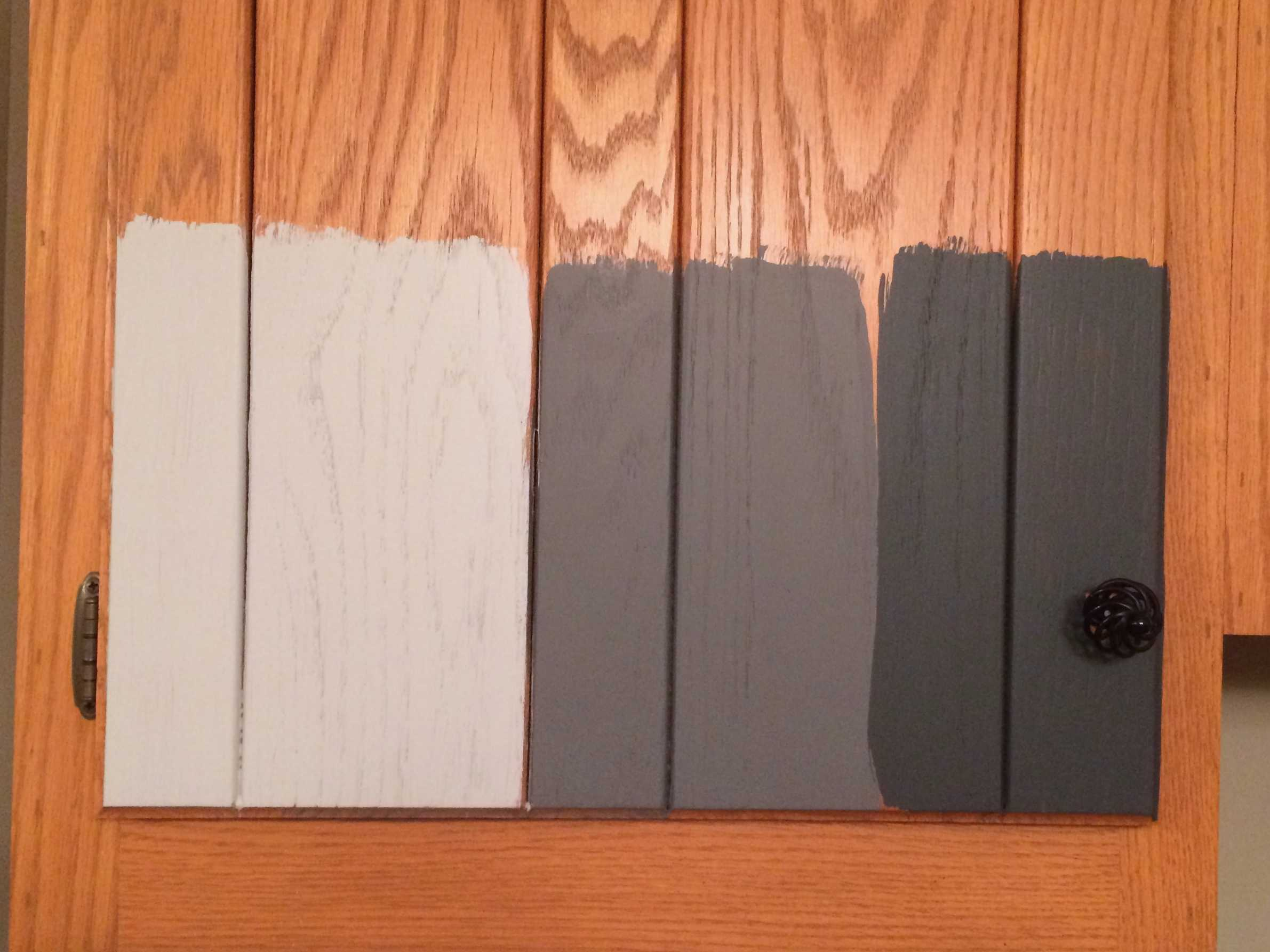 How to paint kitchen cabinets without sanding or priming Pictures of painted cabinets