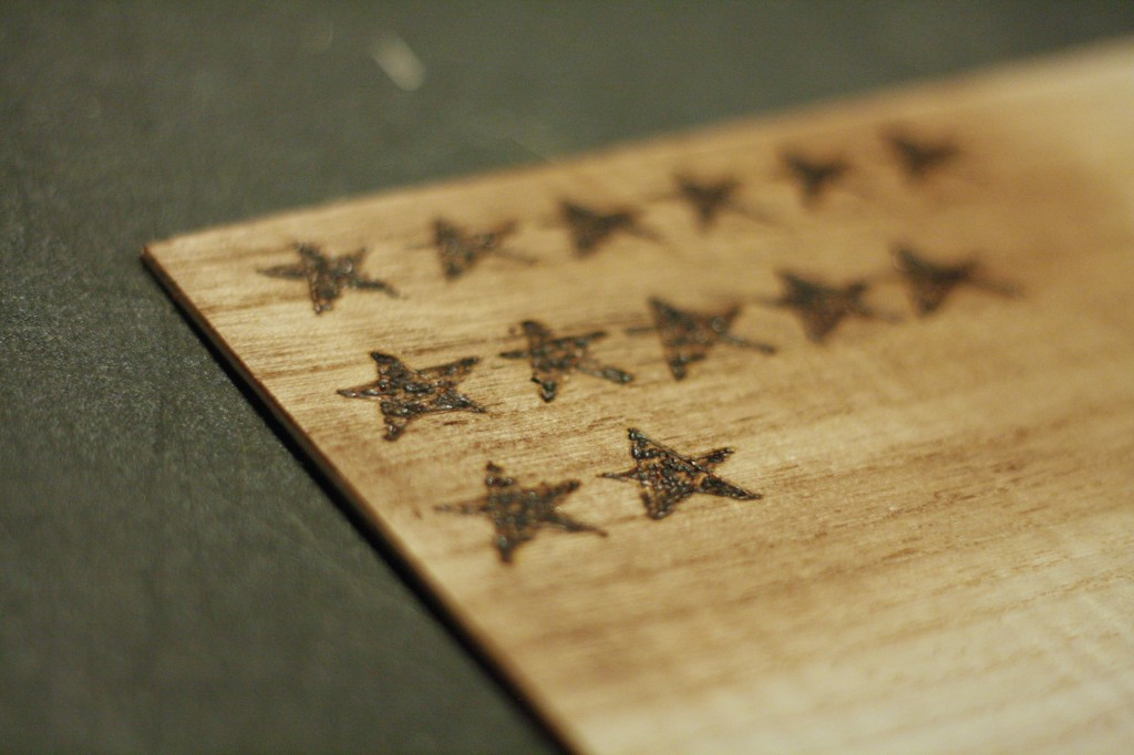 MUST PIN! Full tutorial to make this beautiful wood shim flag by Designer Trapped in a Lawyer's Body!