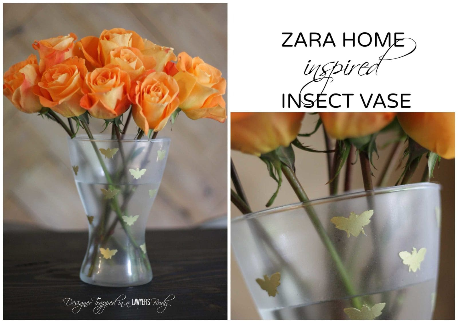 Pin now, read later! Knock off Zara Home Insect Vase by Designer Trapped in a Lawyer's Body. #zarahomeknockoff