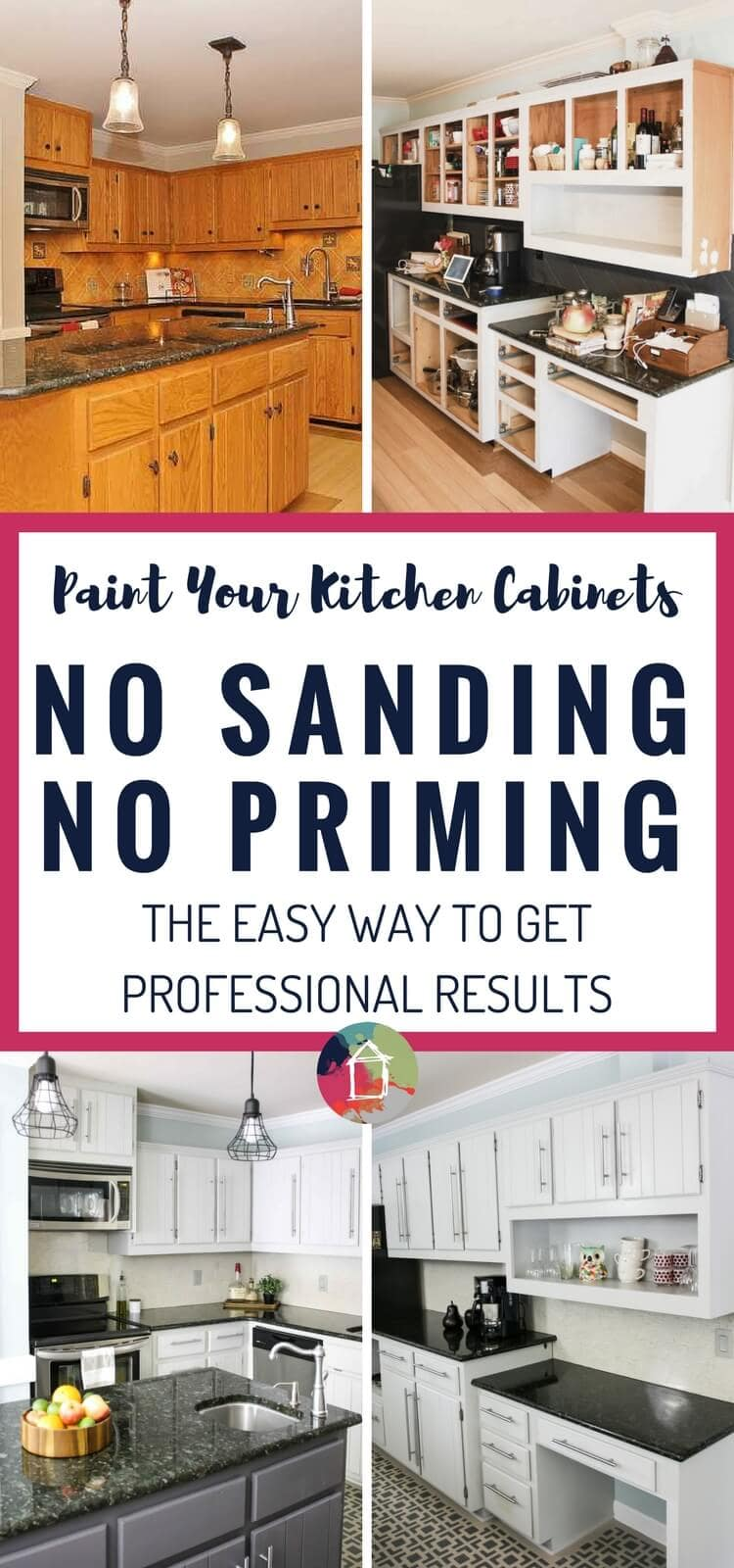 You Can Paint Your Kitchen Cabinets Without Priming Or Sanding Wooo Hooo