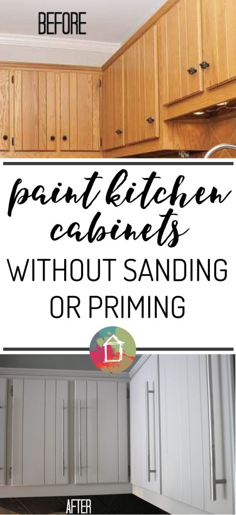 amazing Sanding Kitchen Cabinet Doors #7: You can paint your kitchen cabinets without sanding or priming. That makes