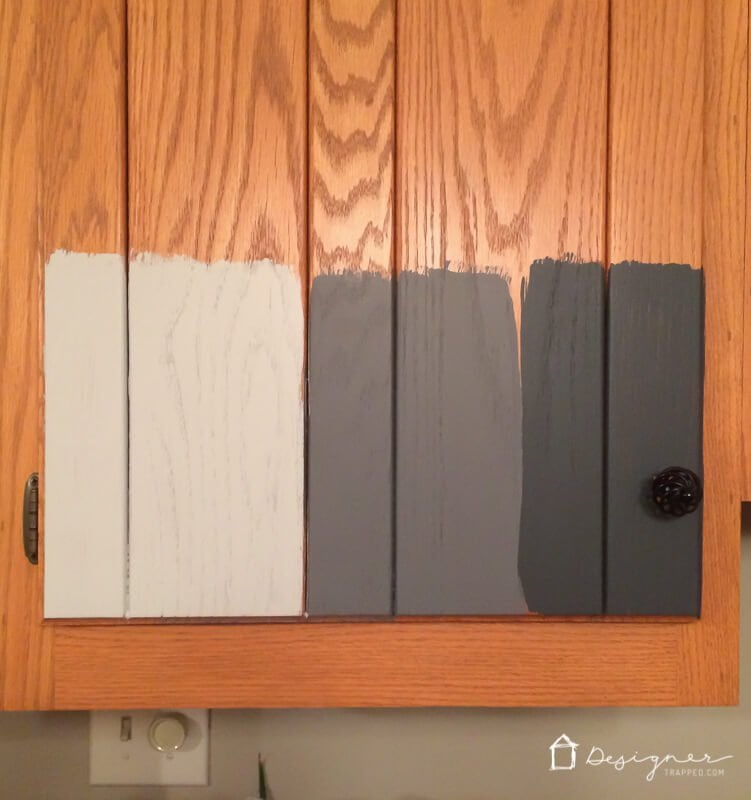 How To Paint Kitchen Cabinets Without Sanding or Priming - Step by Painted Or Stained Kitchen Cabinets on white stained kitchen cabinets, stained kitchen cabinets before and after, grey stained kitchen cabinets,