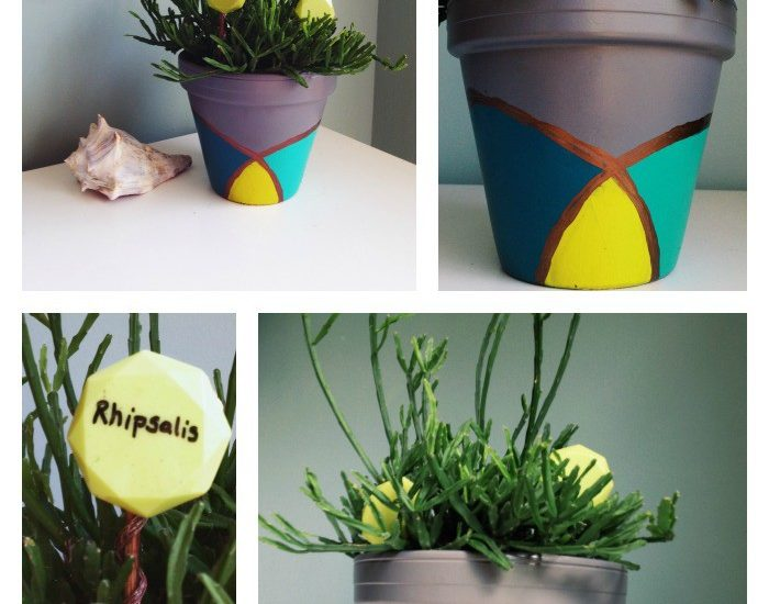 Pretty Painted Pot Inspired From a Broken Necklace ~ Guest Post by Paper & Fox