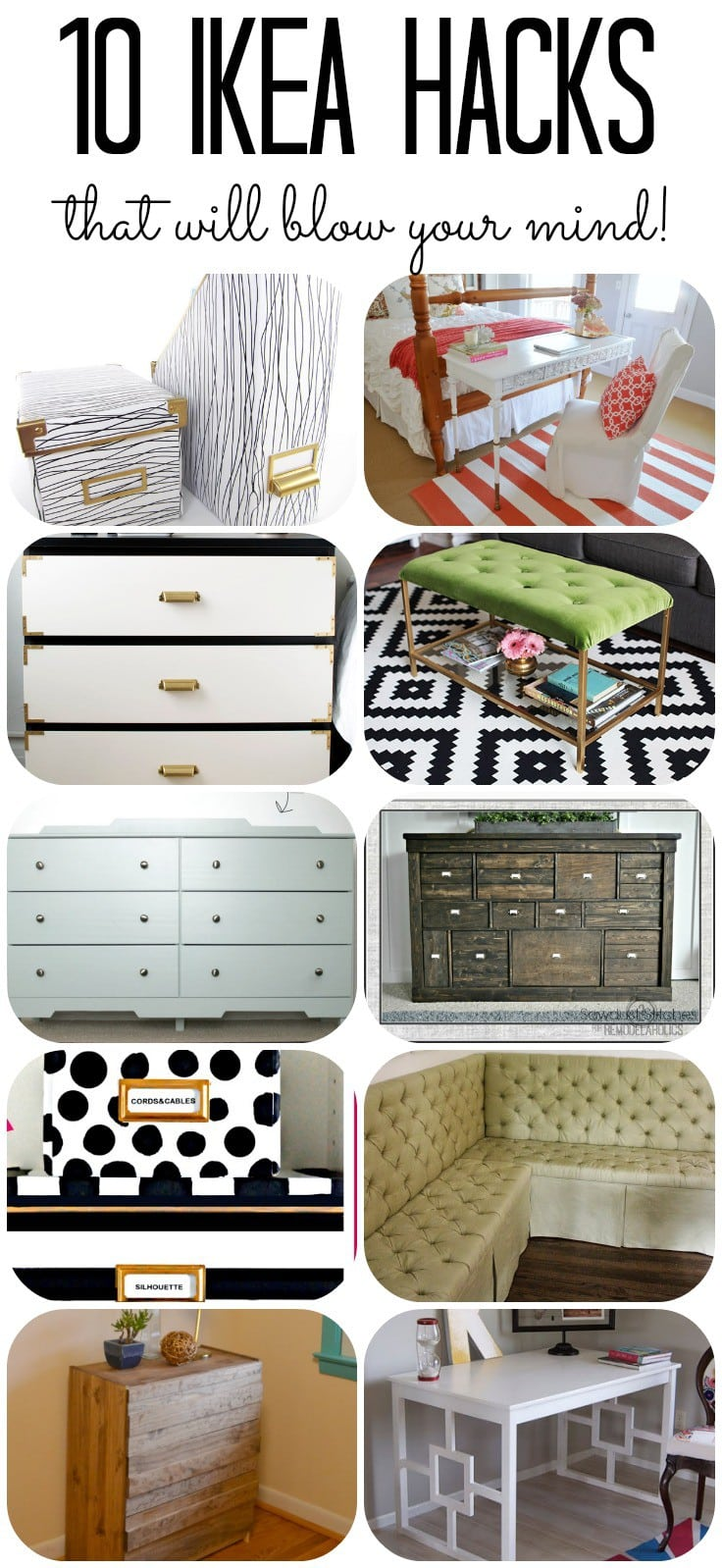 10 AMAZING Ikea furniture hacks that you can't miss! #ikeahacks