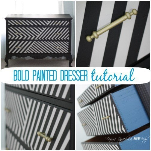 AWESOME! Learn how to paint a dresser to make a bold statement! Full tutorial by Designer Trapped in a Lawyer's Body. #spon #OPI #painteddresser