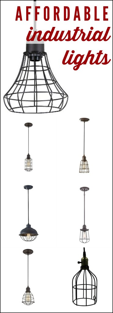 MUST PIN! Awesome round-up of industrial pendant lighting by Designer Trapped in a Lawyer's Body! #industriallighting