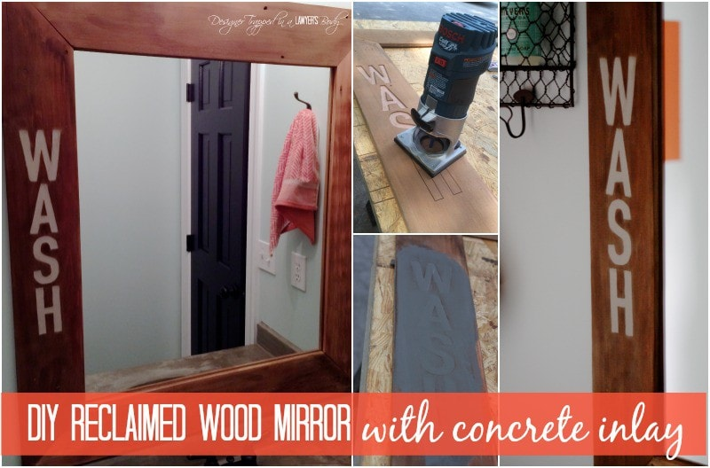 you guys i am so insanely excited about this project today i am sharing how joe and i created the most amazing reclaimed wood mirror for our powder room - Reclaimed Wood Mirror