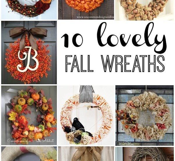 10 STUNNING Fall Wreaths